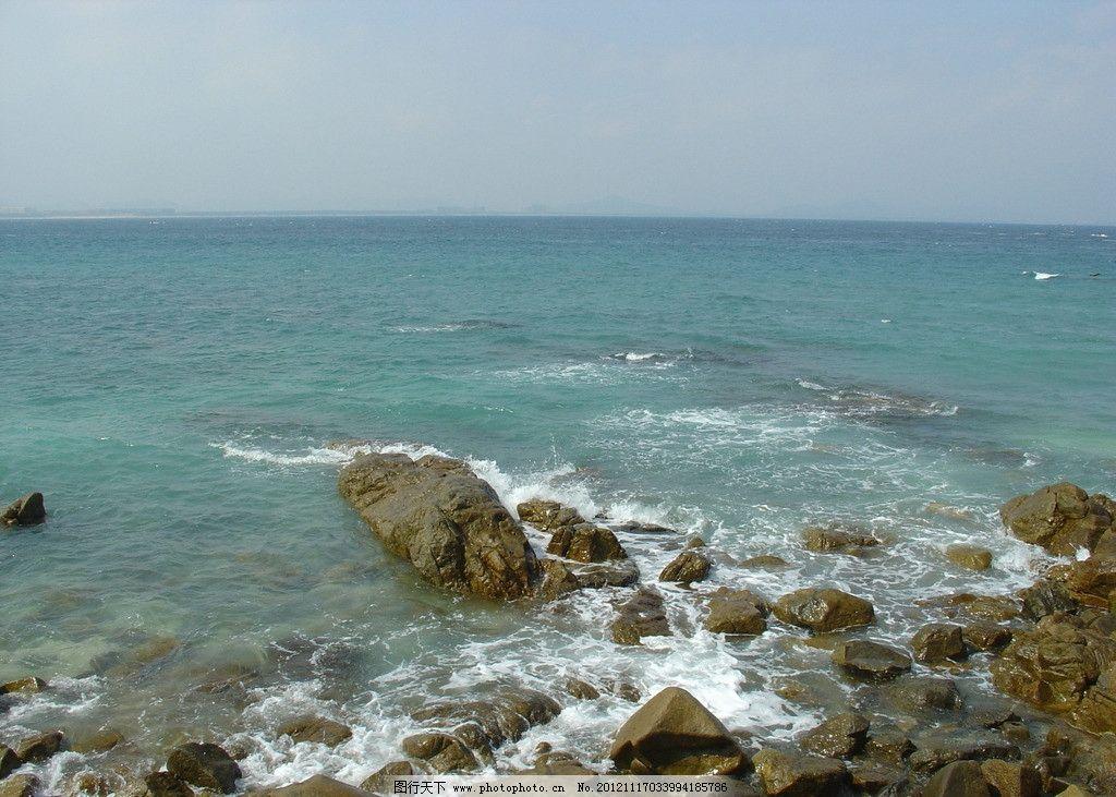 海南蜈支洲 海南岛 南海 蜈支洲 沙滩 海滩 大海 岩石 浪花 国内旅游