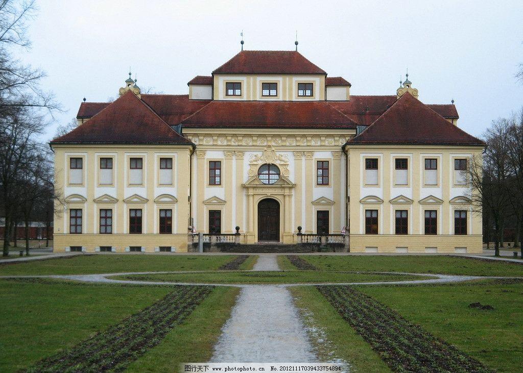 欧式别墅 欧洲 建筑 庄园 洋房 洋楼 草坪 建筑摄影 建筑园林