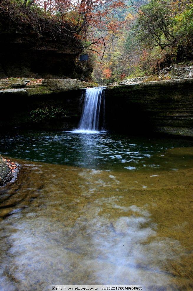 山水 流水 树木 绿叶 高山 山水风景 自然景观 摄影 350dpi jpg
