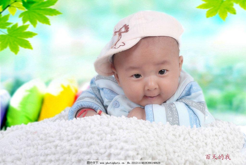 可爱龙宝宝百天照 可爱宝宝 花美小男 人物摄影 人物图库