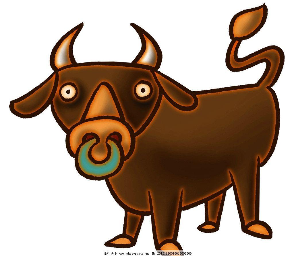 卡通牛 动物 动漫动画