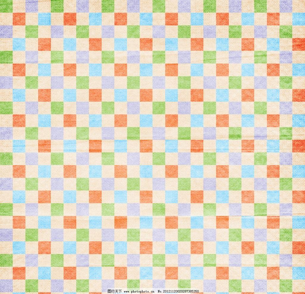 彩色方格纸纹图片_背景底纹_底纹边框_图行天下图库
