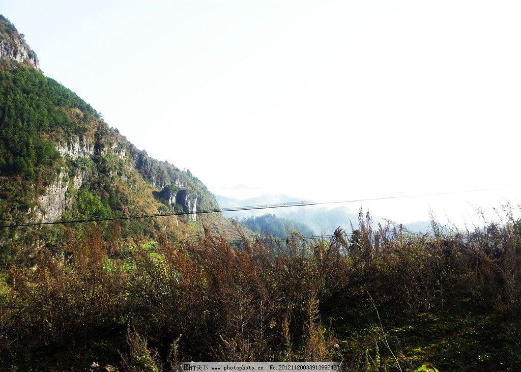 凤岗风景 树木 云海 山峰 蓝天 远山 贵州遵义凤岗风景 国内旅游 旅游