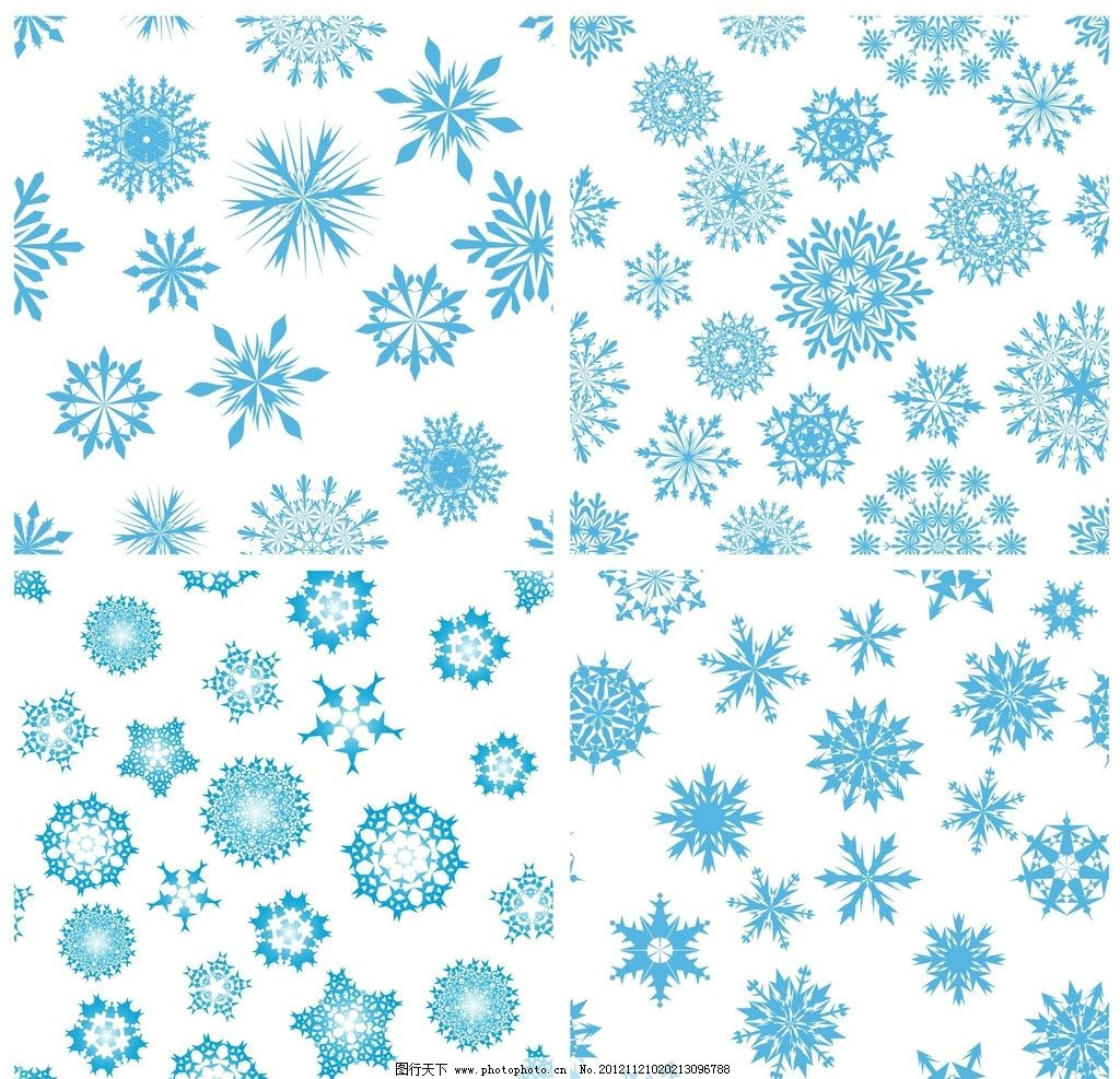 雪花背景 单色 冬天 圣诞 雪花 星星 背景 重复图案 底纹背景 底纹