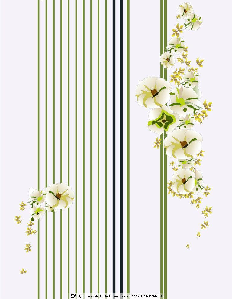 移门 时尚 欧式 线条 花朵