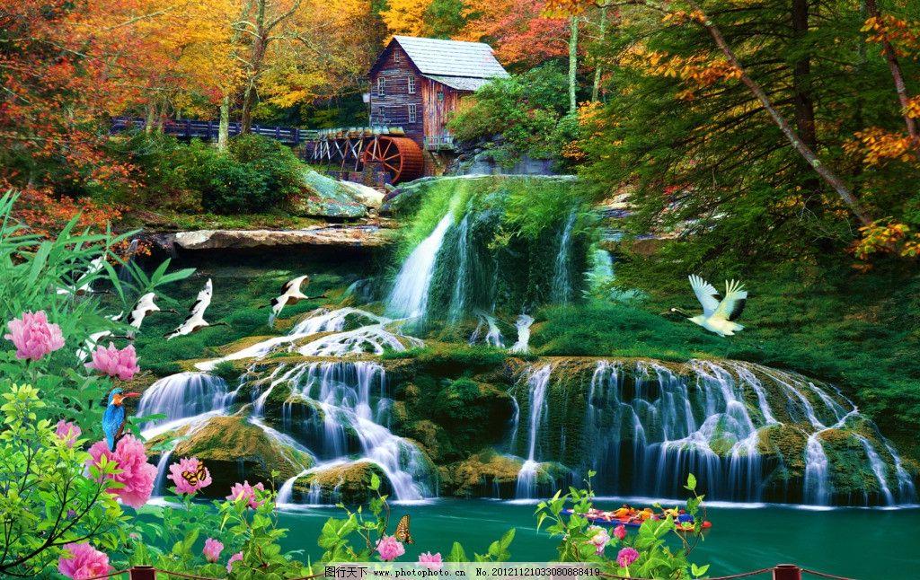 世外桃源 人间仙镜 人间美景 人间天堂 世外桃园 大自然 水 湖水