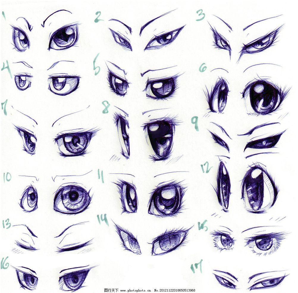 卡通眼睛画法图片