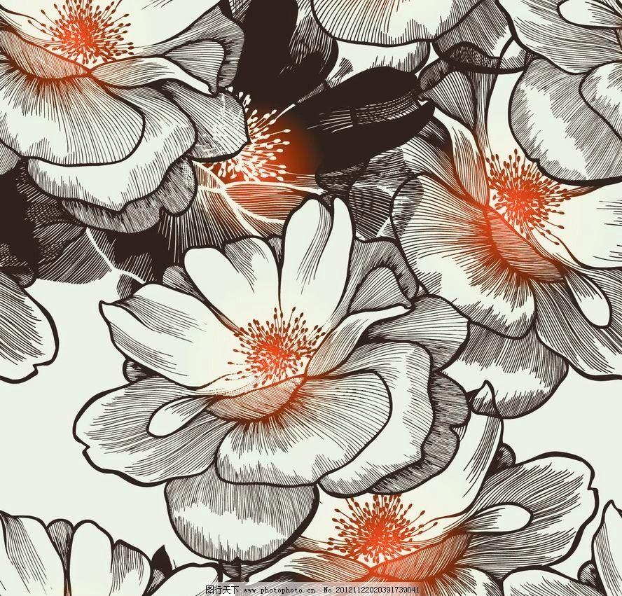 古典梦幻花纹花朵 欧式