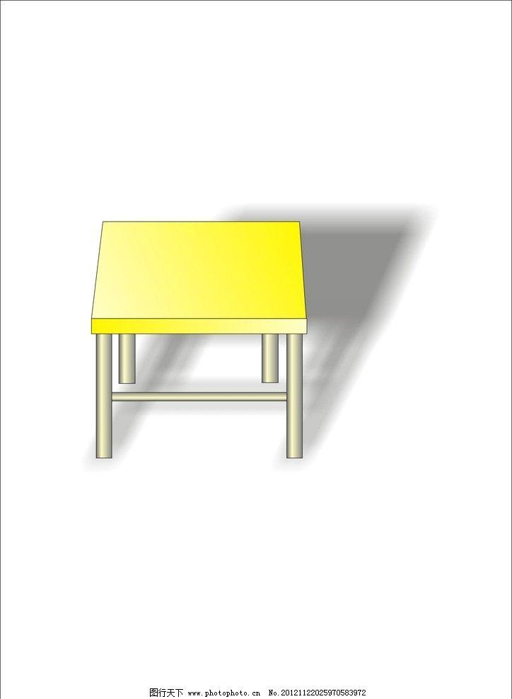 课桌 桌子 立体图 学习用品 生活百科 矢量 cdr