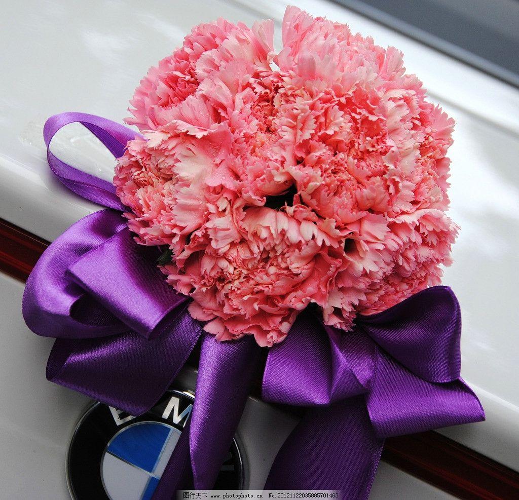 婚礼花车鲜花装饰图片