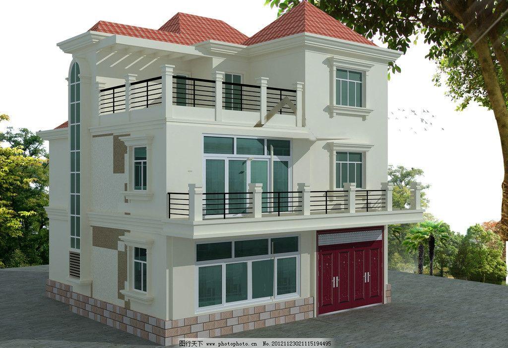别墅外观设计图 二层半别墅