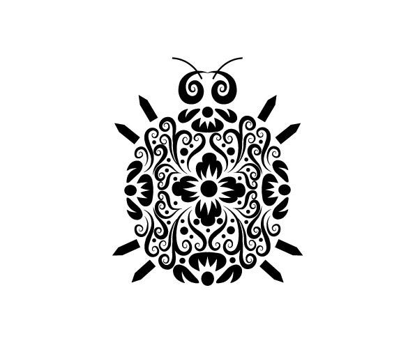 昆虫黑白花纹矢量图免费下载 动物 黑白 花纹 剪影 免费下载 矢量素材