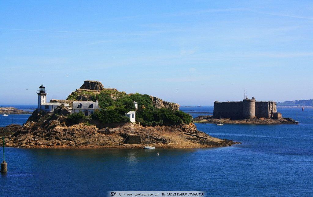海岛 大海 海面 小岛 岛屿 灯塔 堡垒 要塞 国外旅游 摄影