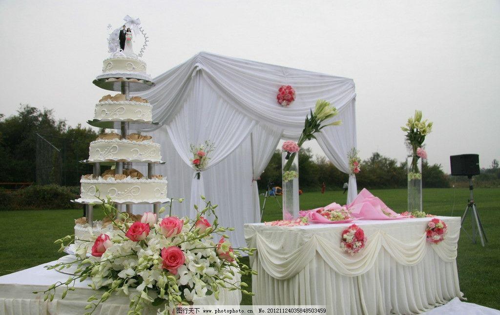 婚礼 西式婚礼 户外婚礼 室外婚礼 草坪婚礼 婚礼花艺 婚礼图库 节日图片