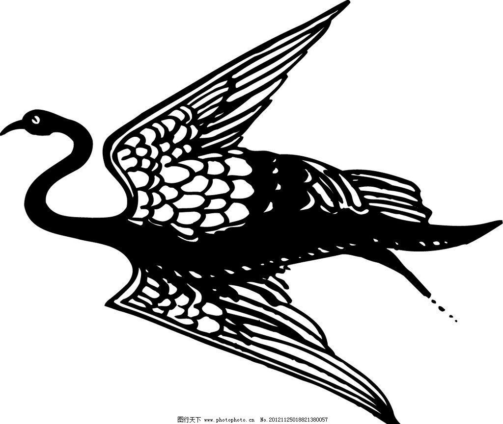 古代图案 飞鸟 仙鹤 精美图案 传统图案 传统纹样 精美底纹 装饰图案