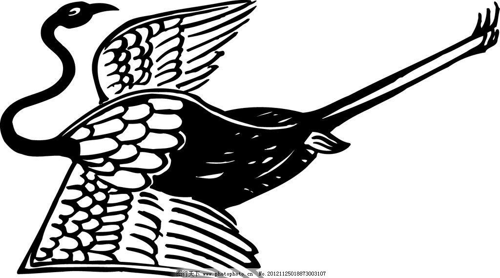 动物 仙鹤 鸟 鹤 图案 精美底纹 装饰图案 古典图案 吉祥纹样 吉祥