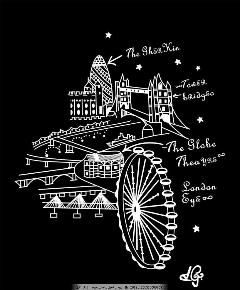伦敦塔桥标志图