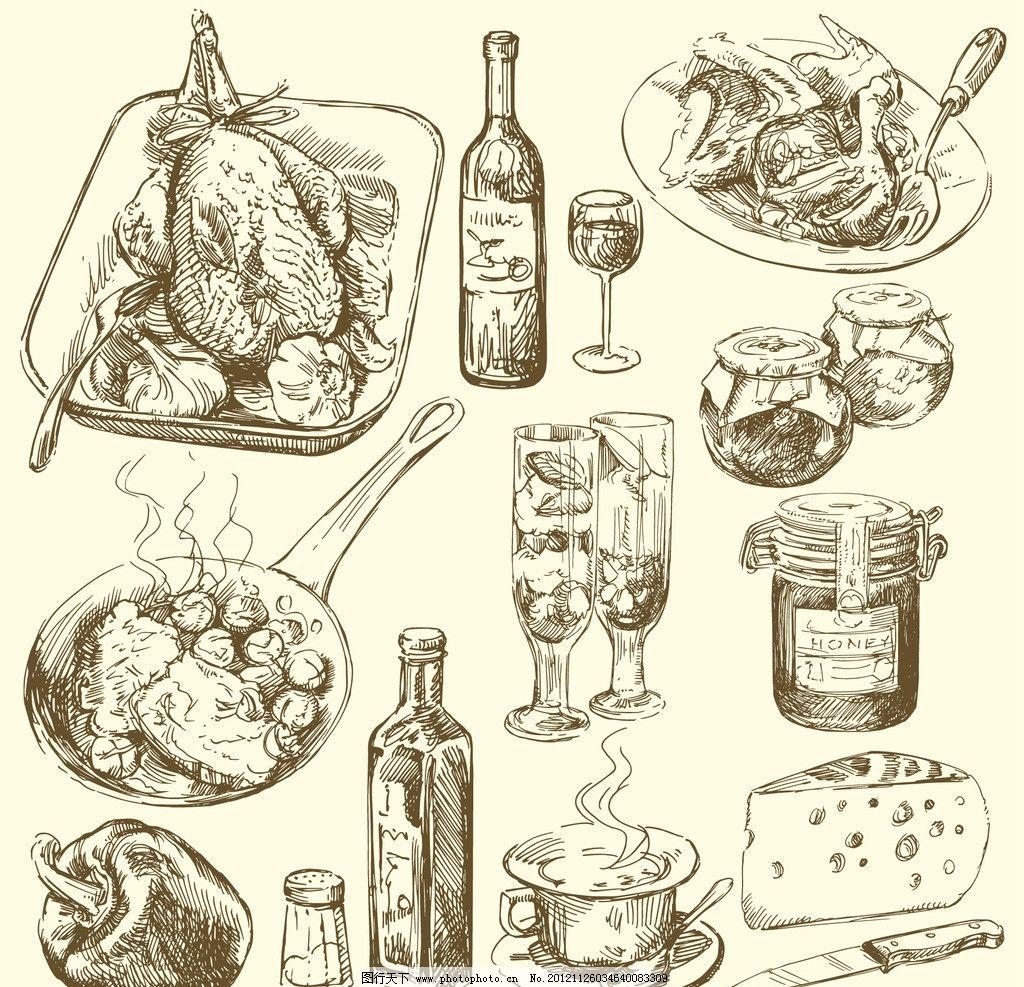 手绘餐饮图片