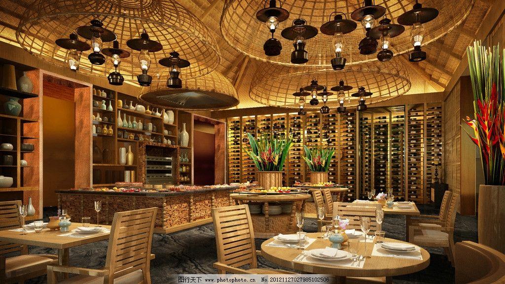 烧烤 特色 酒吧 泰式 中餐厅 圆顶 吊灯 室内设计 环境设计 设计 100