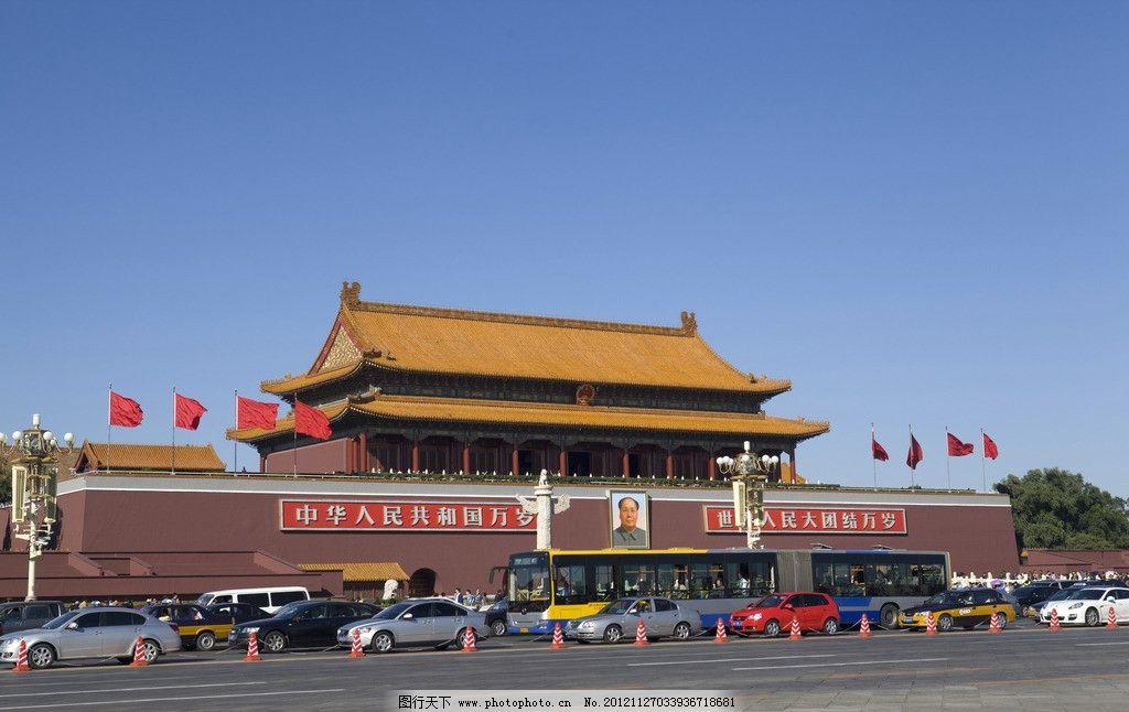 天安门 天安门广场 北京 城市中心广场 天安门城楼 正阳门城楼图片