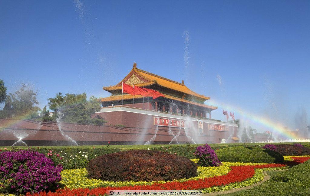 天安门喷泉 天安门广场 北京 城市中心广场 天安门城楼 正阳门城楼