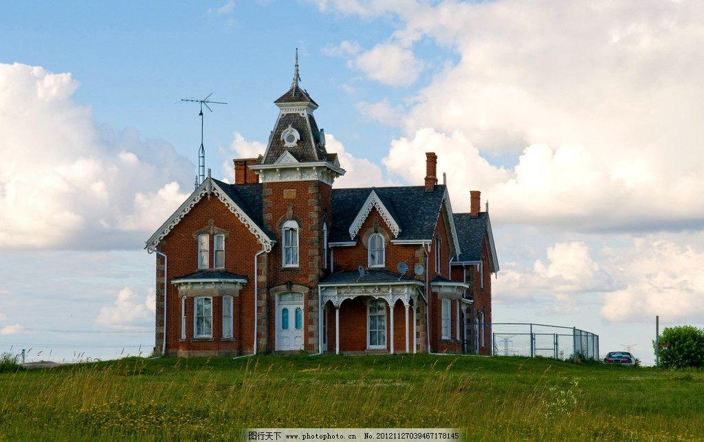 欧式建筑 欧洲 洋房 洋楼 别墅 复式楼 民宅 住宅 房屋 草地图片