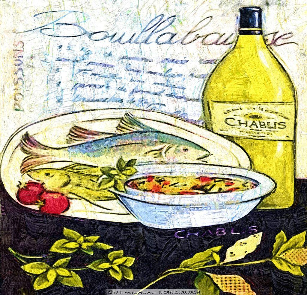 美食 油画 装饰画 无框画 手绘 绘画 餐桌 绘画书法 文化艺术 设计