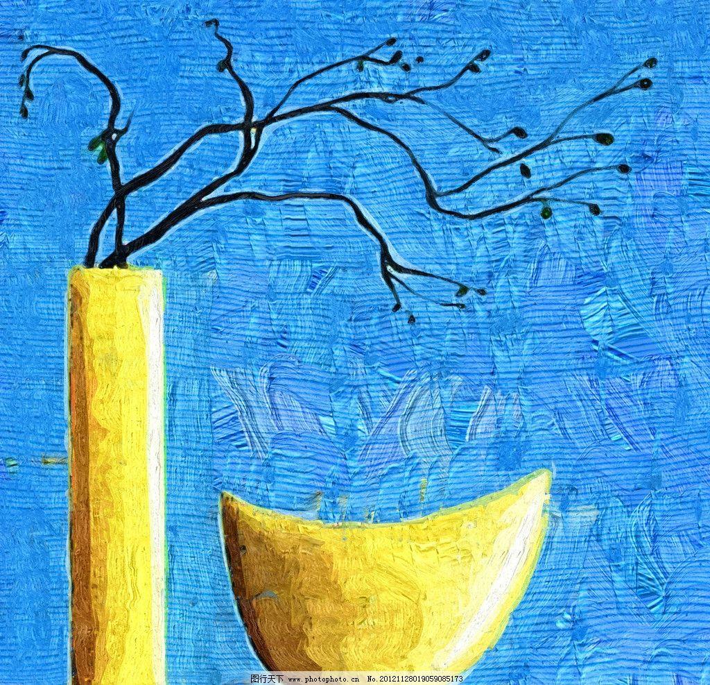 花瓶 油画 装饰画 无框画 手绘 绘画 抽象画 绘画书法 文化艺术
