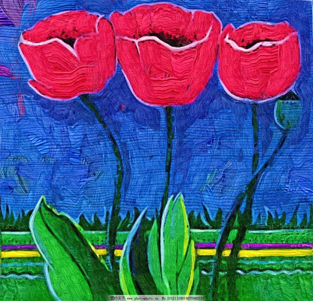 花朵 油画 装饰画 无框画 手绘 绘画 抽象画 花卉 绘画书法 文化艺术