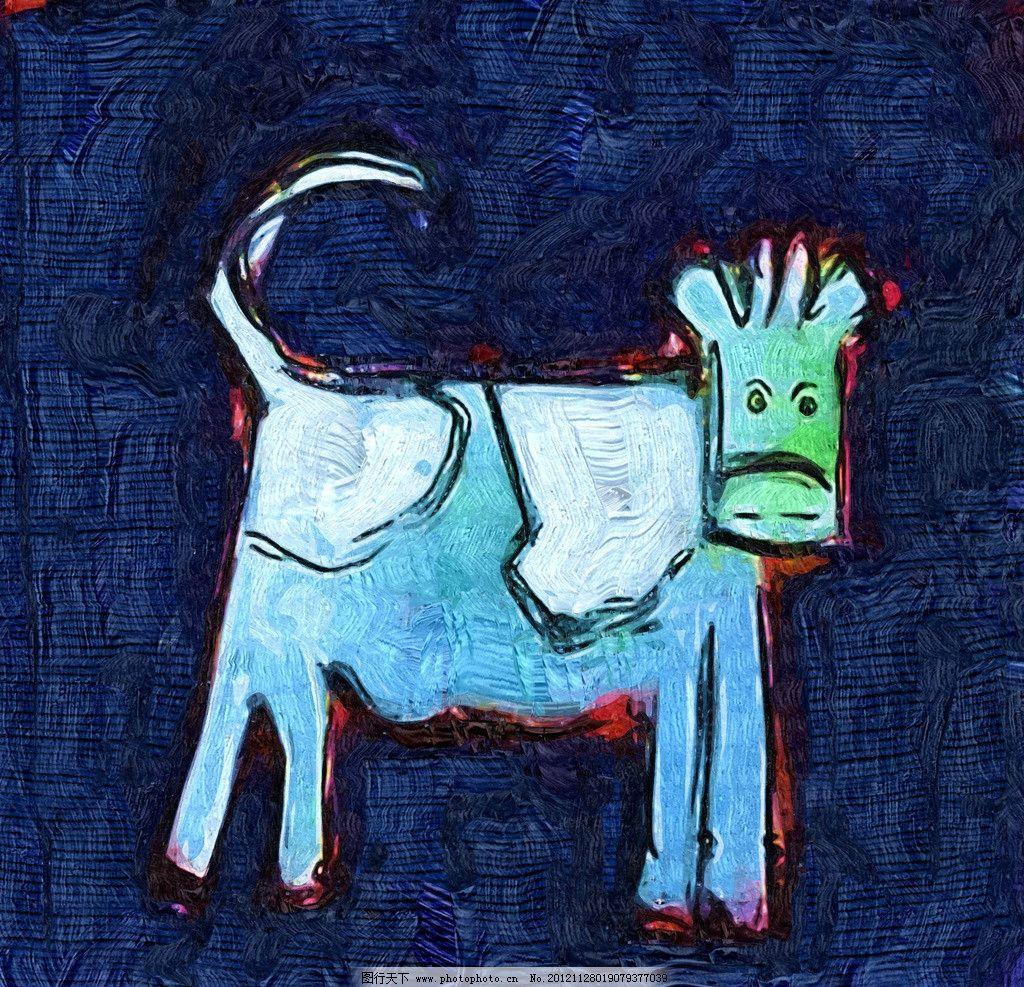 动物绘画边框图片