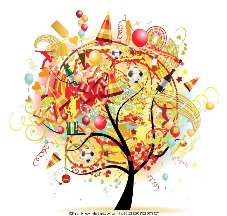 艺术树 卡通树