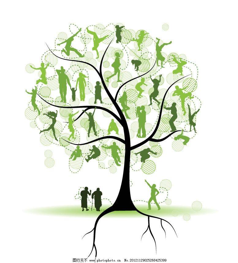 卡通树 树木 手绘 可爱 创意 背景 底纹 矢量 植物主题 树木树叶 生