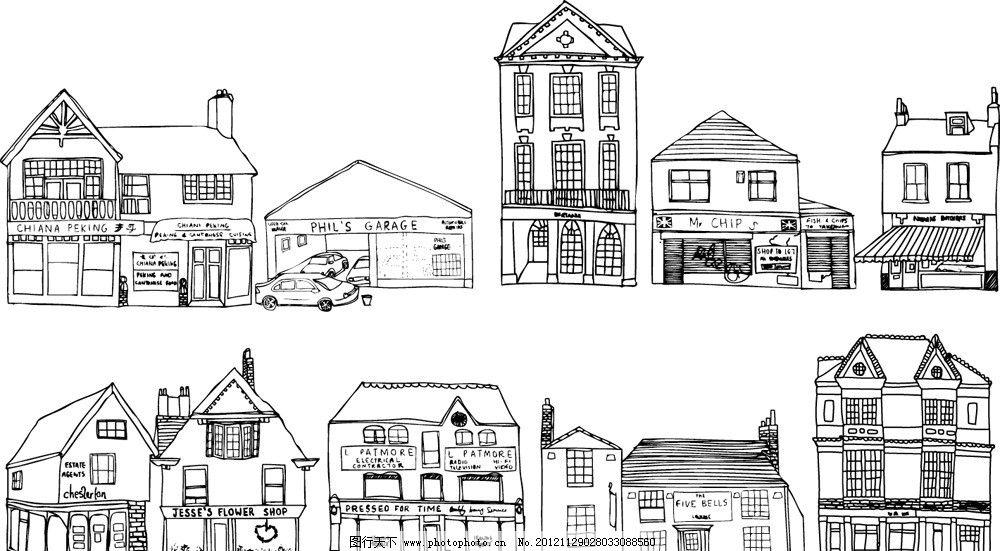 线条建筑物图片