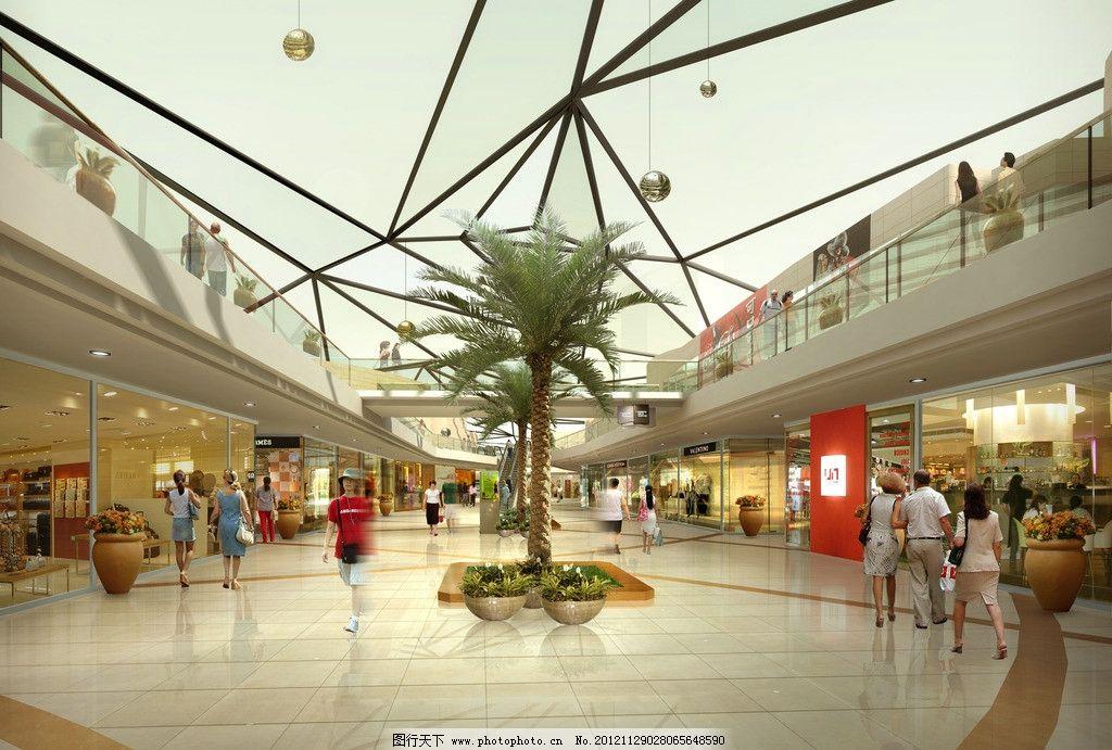 商场室内效果图 商场效果图 商场透视图 百货商场 商业中心效果图