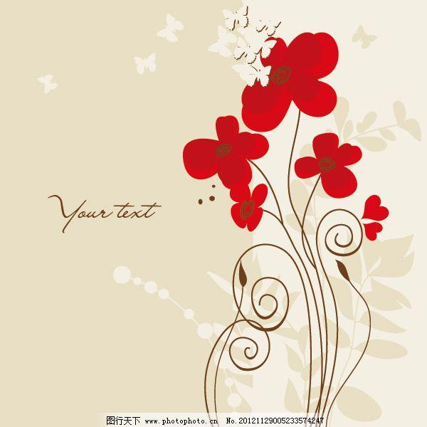 花朵 手绘 手绘矢量图 手绘矢量图 花朵 底纹背景 手绘 花纹花边