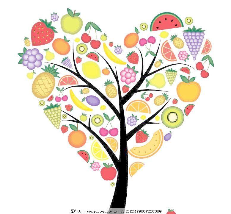树花纹 艺术树 卡通树 树木 盛开 美丽 缤纷 灿烂 手绘 可爱 创意