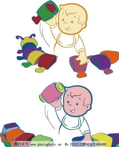 小孩玩玩具 儿童 小孩子 玩具 可爱宝宝 火车 毛毛虫 动物 布类 毛绒