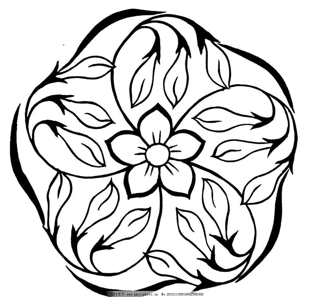 梅花花纹 黑白 线条 花纹 刺绣 梅花 四方连续 传统文化 文化艺术