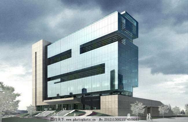 建筑表现 建筑模型 建筑设计 建筑素材 室外模型 源文件 某造型现代办