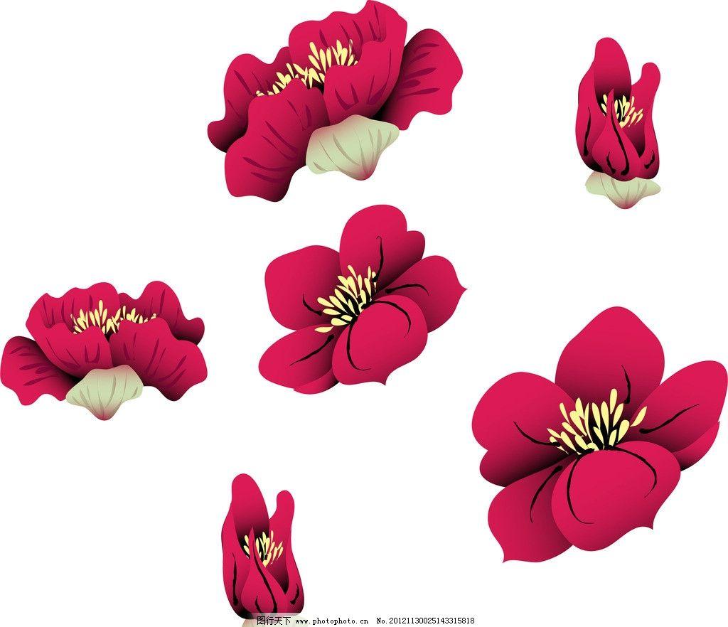 花瓣 花蕊 鲜花 花 矢量 花草 生物世界 eps