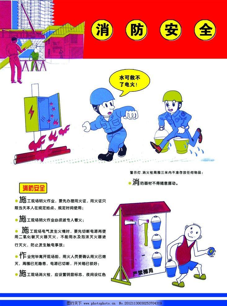 消防安全常识 安全知识 安全 电 施工作业 展板模板 广告设计模板 源