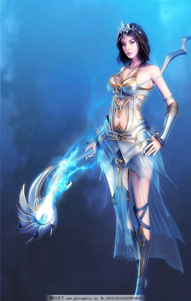 奇幻角色女法师 游戏美女 人物素材 动漫动画 奇幻美女 游戏人物