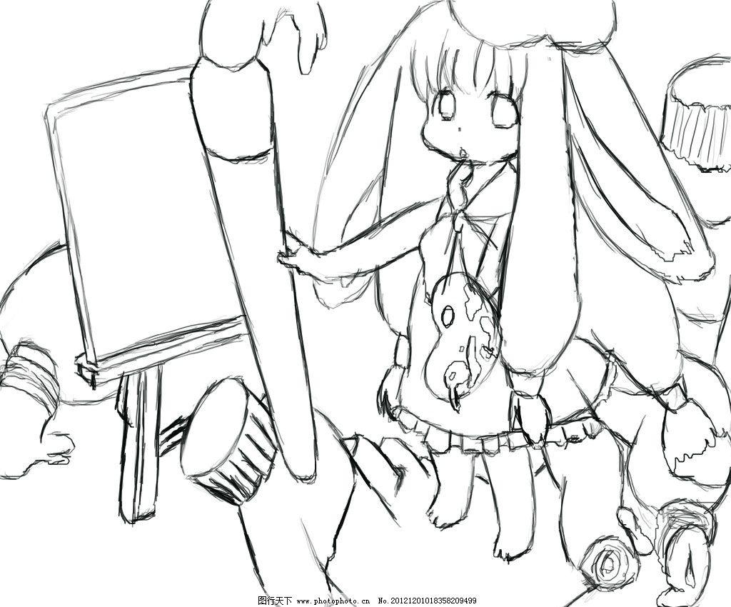 动漫线稿 动漫 线稿 卡通 人物 手绘 小人 画笔 动漫人物 动漫动画 设