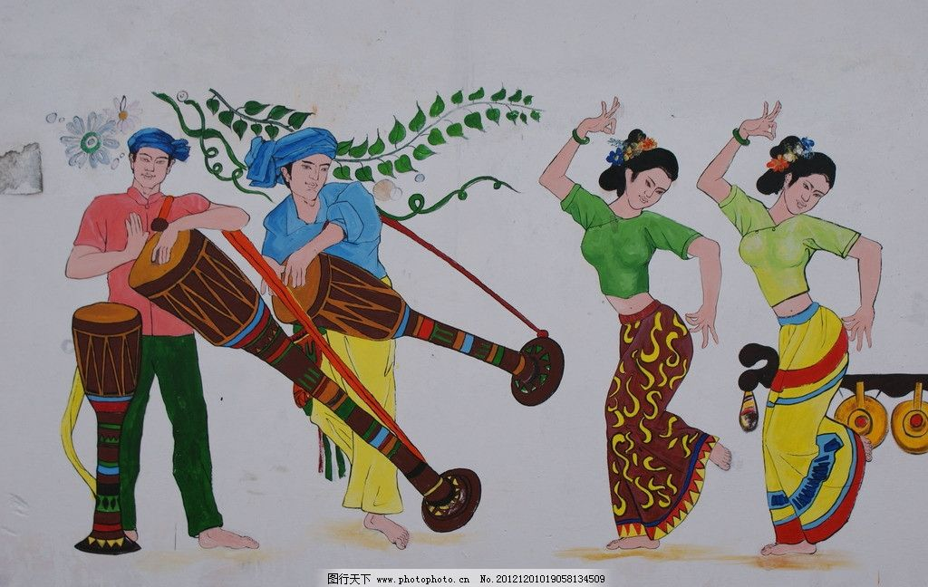 傣族壁画图片