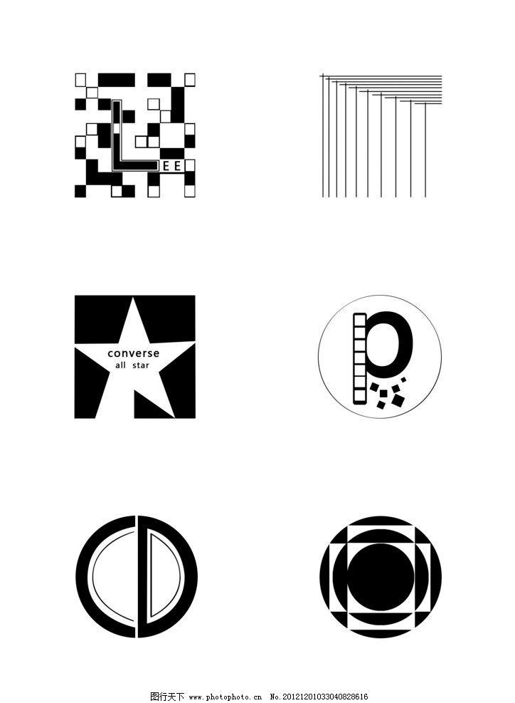 图形设计 正方形 圆形 点线面结合 源文件