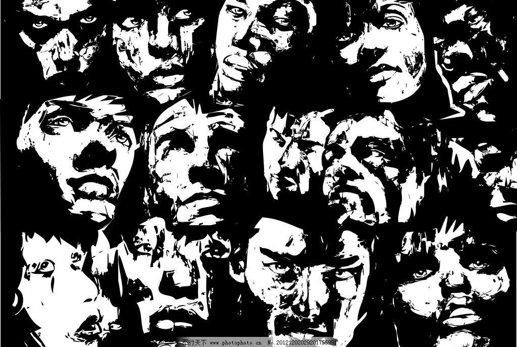 黑白世界 黑白 世界 广告 海报 招贴 平面 历史 人物 全球 和平 战争图片