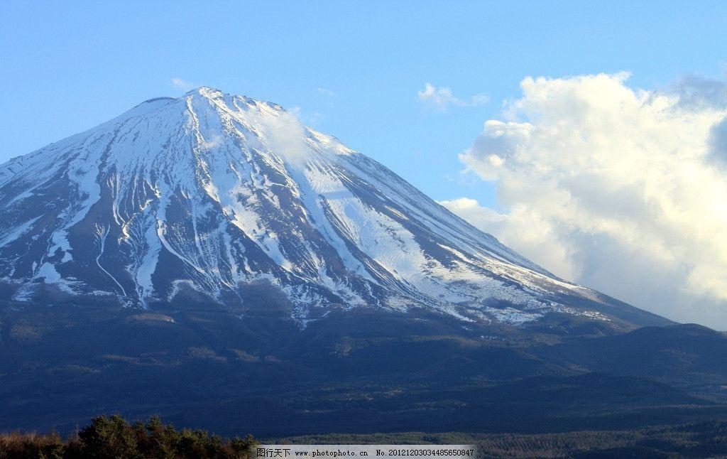 富士山 雪峰 美景 自然景观 日本富士山 山水风景 摄影 72dpi jpg