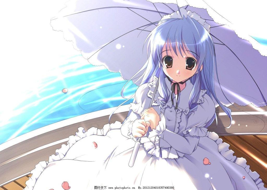 打伞女孩图片
