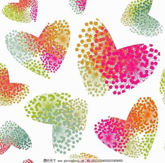 可爱爱心花纹花朵图片