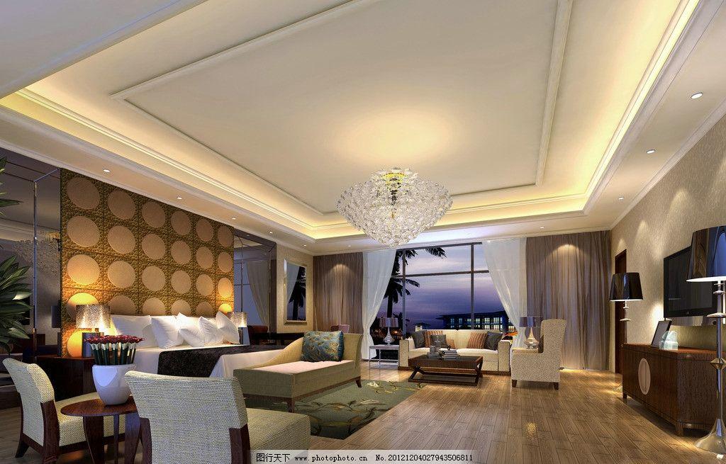 豪华 灯光 室内装修      欧式 复古 古典 咖啡色 沙发 室内设计 环境